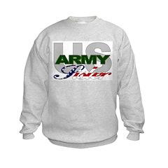 United States Army Sister Kids Sweatshirt