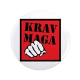 "Krav Maga with Fist 3.5"" Button"