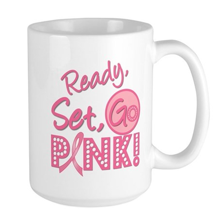 Ready, Set, Go Pink Large Mug