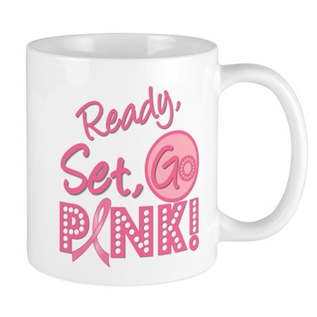Ready, Set, Go Pink Mug