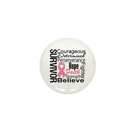 Breast Cancer Collage Mini Button