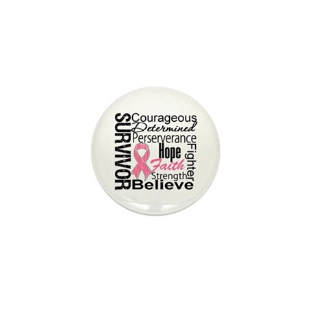 Breast Cancer Collage Mini Button (100 pack)
