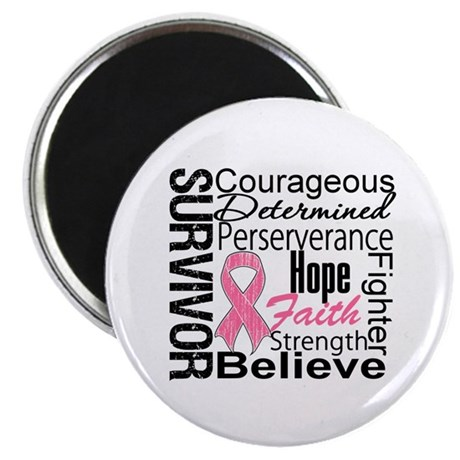 "Breast Cancer Collage 2.25"" Magnet (100 pack)"