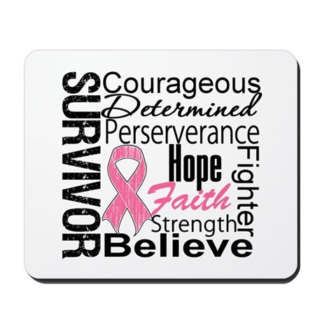 Breast Cancer Collage Mousepad