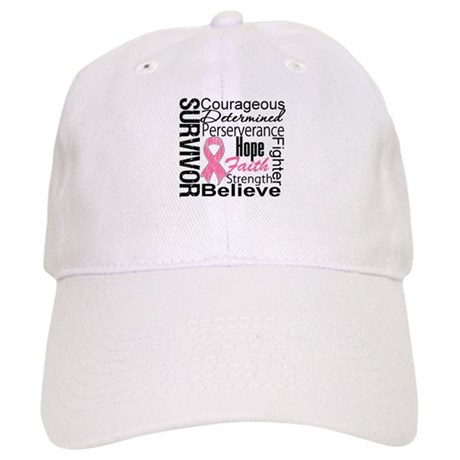 Breast Cancer Collage Cap