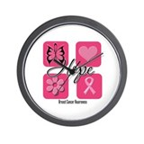 Hope Breast Cancer Wall Clock