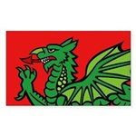Midrealm RED Dragon Vinyl Sticker (Oval)