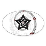 Shooting Stars Oval Decal