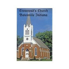 Crossroad's Lutheran Church Rectangle Magnet (10 p