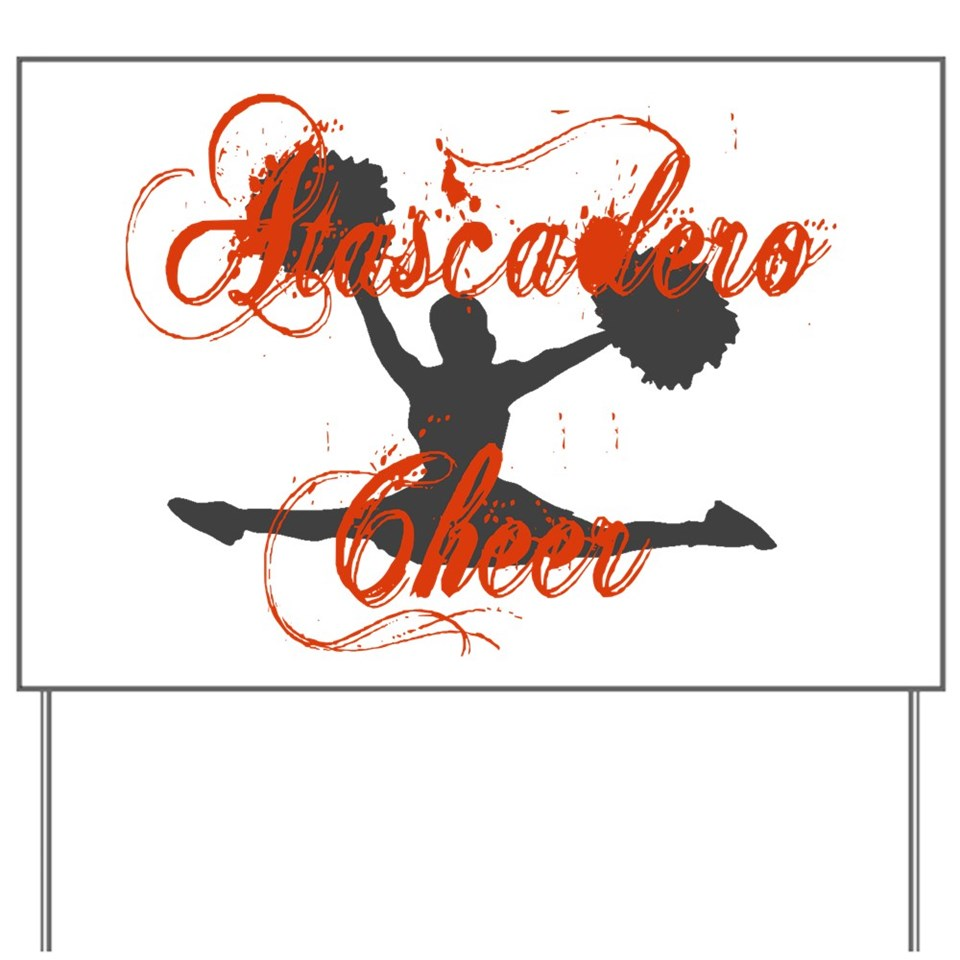 atascadero cheer 2 yard sign $ 19 00 qty availability product number
