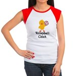 Volleyball Chick Women's Cap Sleeve T-Shirt