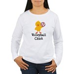 Volleyball Chick Women's Long Sleeve T-Shirt