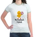 Volleyball Chick Jr. Ringer T-Shirt
