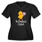 Volleyball Chick Women's Plus Size V-Neck Dark T-S