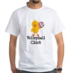 Volleyball Chick White T-Shirt
