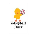 Volleyball Chick Rectangle Sticker 50 pk)