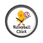Volleyball Chick Wall Clock