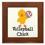 Volleyball Chick Framed Tile