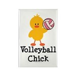 Volleyball Chick Rectangle Magnet (10 pack)