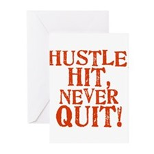 HUSTLE, HIT, NEVER QUIT! Greeting Cards (Pk of 20)