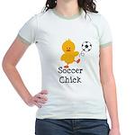 Soccer Chick Jr. Ringer T-Shirt