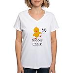 Soccer Chick Women's V-Neck T-Shirt