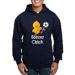 Soccer Chick Hoodie (dark)