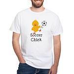 Soccer Chick White T-Shirt