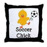 Soccer Chick Throw Pillow