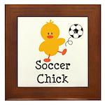 Soccer Chick Framed Tile