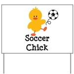 Soccer Chick Yard Sign