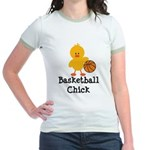 Basketball Chick Jr. Ringer T-Shirt