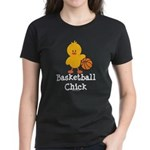 Basketball Chick Women's Dark T-Shirt