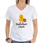 Basketball Chick Women's V-Neck T-Shirt