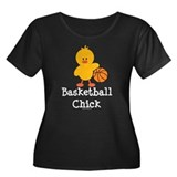 Basketball Chick Women's Plus Size Scoop Neck Dark
