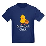 Basketball Chick Kids Dark T-Shirt