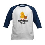 Basketball Chick Kids Baseball Jersey