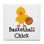 Basketball Chick Tile Coaster
