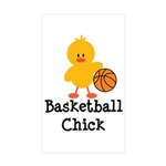 Basketball Chick Rectangle Sticker 50 pk)