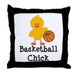 Basketball Chick Throw Pillow