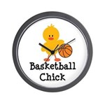 Basketball Chick Wall Clock