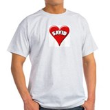 Lost - Sayid Heart Ash Grey T-Shirt
