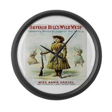Annie Oakley Large Wall Clock