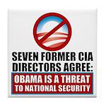 Seven CIA Directors Tile Coaster