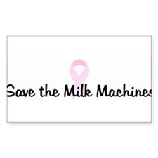 Save the Milk Machines pink r Rectangle Decal