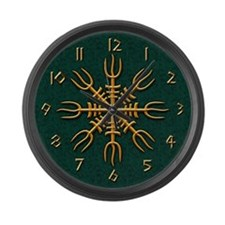 Gold Aegishjalmur Large Wall Clock