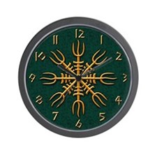 Gold Aegishjalmur Wall Clock