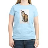 Devon Rex Cat Women's Pink T-Shirt