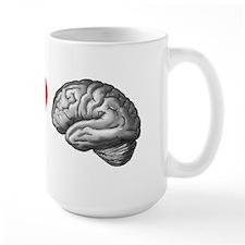 Large I Love Brain Mug