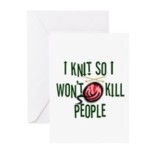 Funny Knitting Greeting Cards (Pk of 20)